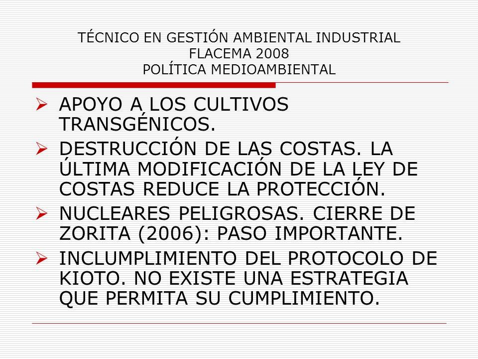 APOYO A LOS CULTIVOS TRANSGÉNICOS.