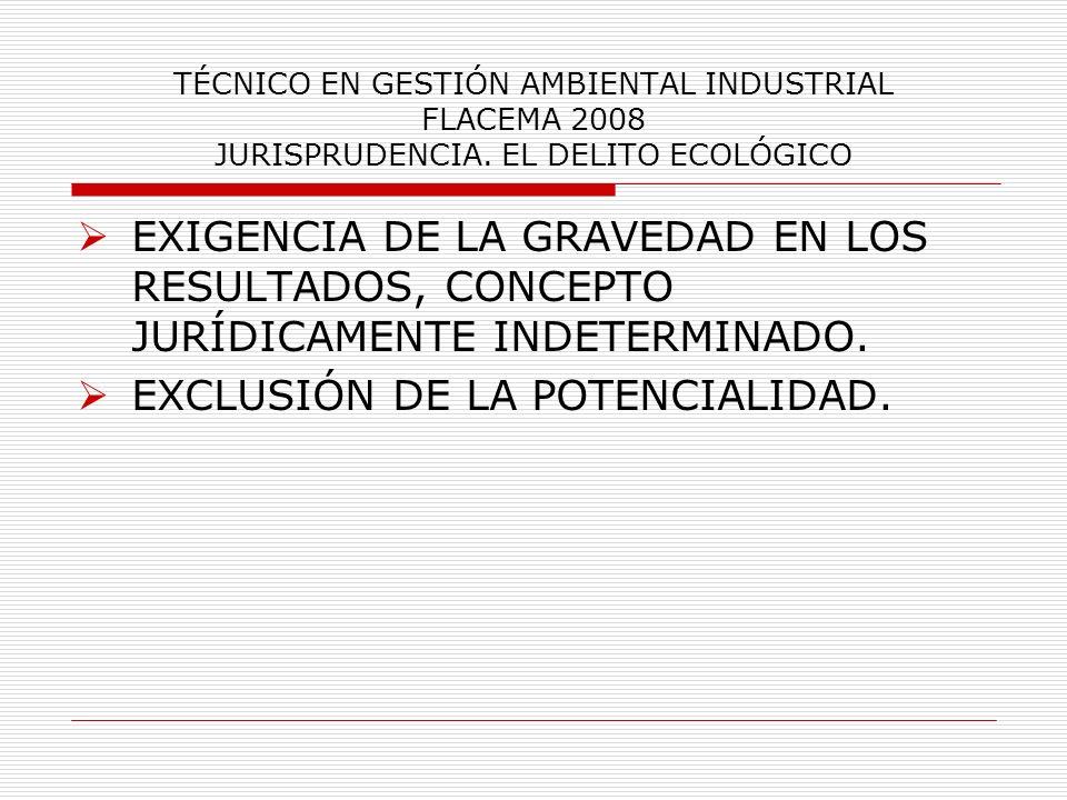 EXCLUSIÓN DE LA POTENCIALIDAD.
