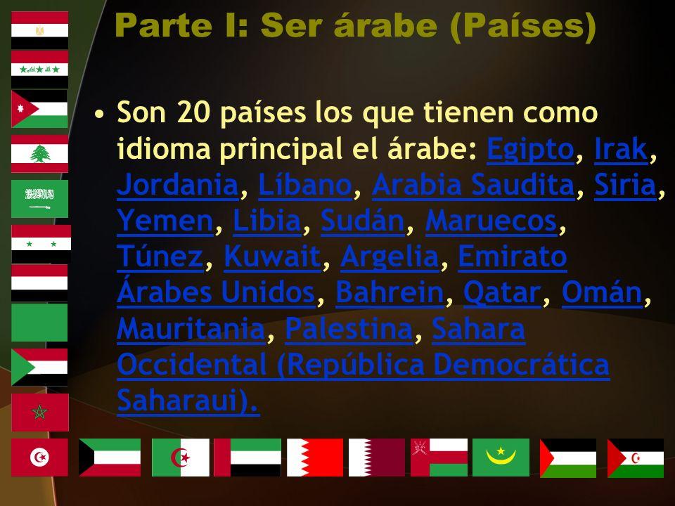 Parte I: Ser árabe (Países)