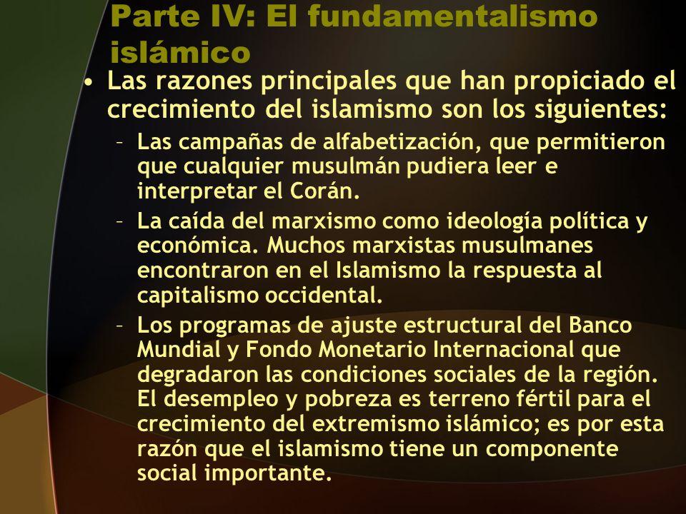 Parte IV: El fundamentalismo islámico