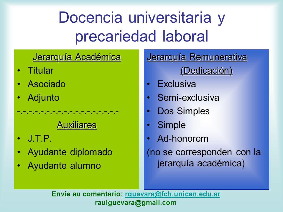 Docencia universitaria y precariedad laboral