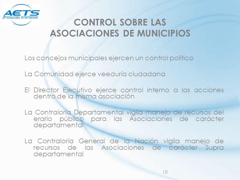 CONTROL SOBRE LAS ASOCIACIONES DE MUNICIPIOS