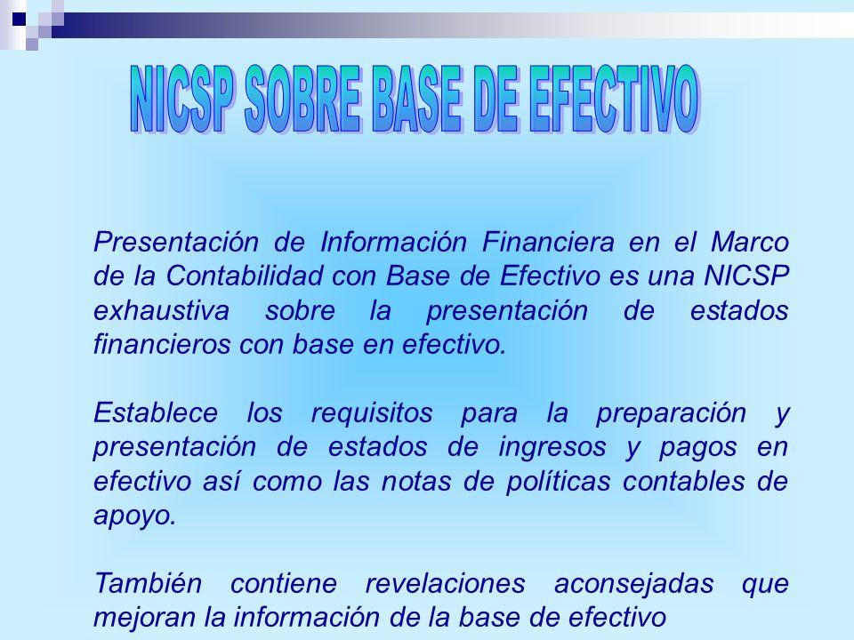 NICSP SOBRE BASE DE EFECTIVO