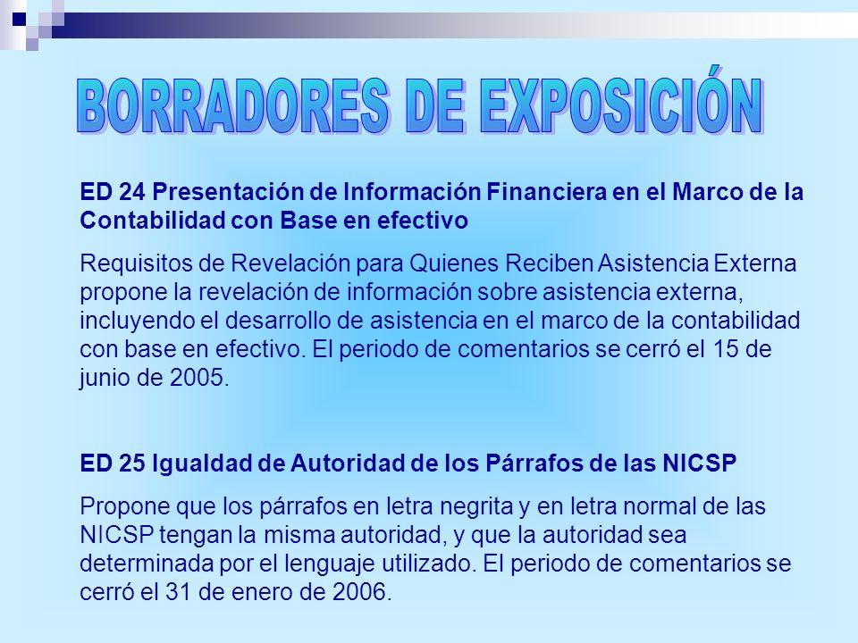 BORRADORES DE EXPOSICIÓN