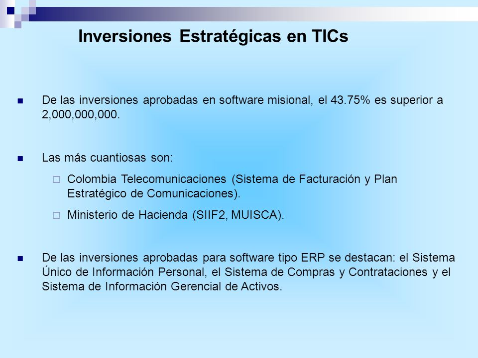 Inversiones Estratégicas en TICs