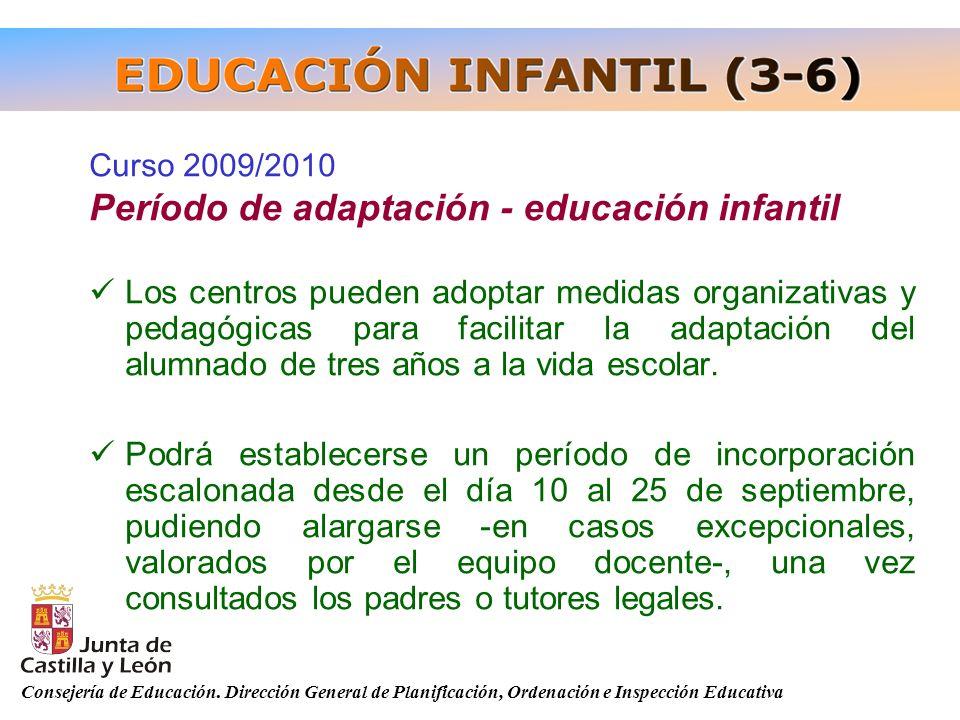Período de adaptación - educación infantil