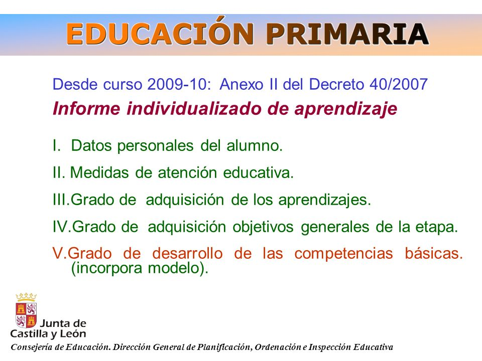 Informe individualizado de aprendizaje