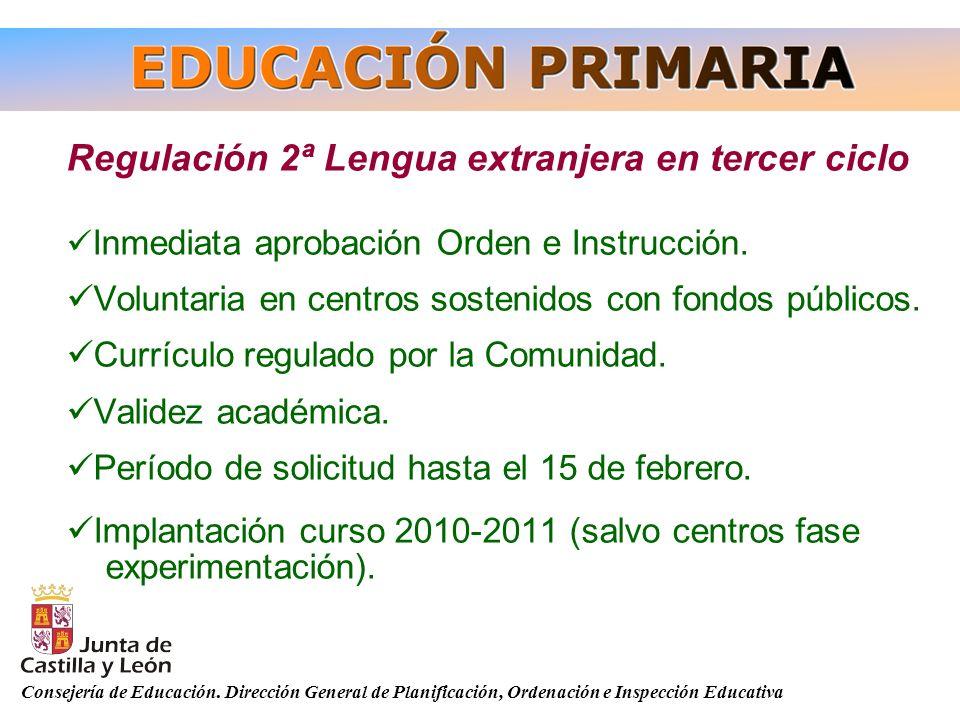 Regulación 2ª Lengua extranjera en tercer ciclo