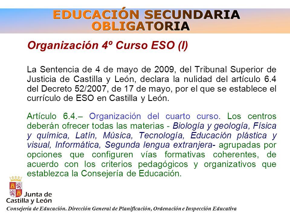 Organización 4º Curso ESO (I)