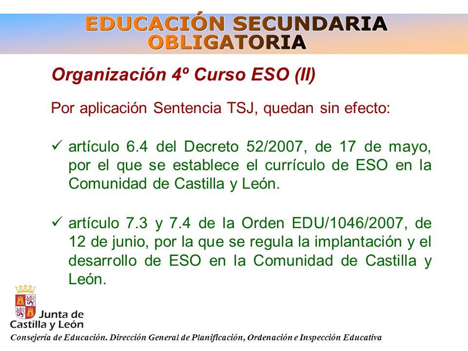 Organización 4º Curso ESO (II)