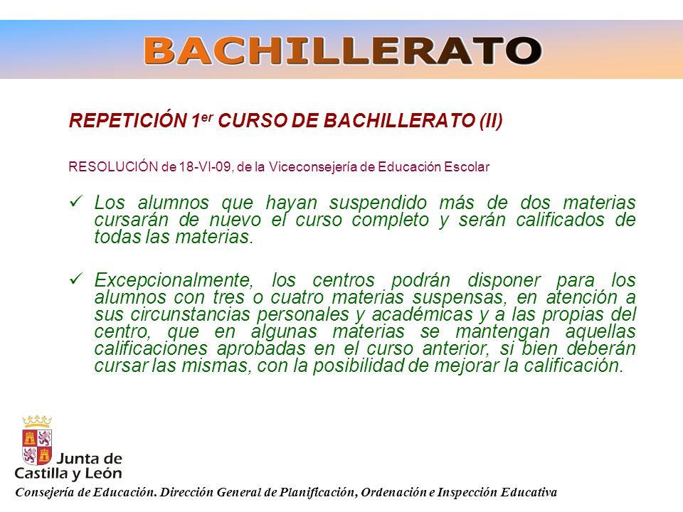 REPETICIÓN 1er CURSO DE BACHILLERATO (II)
