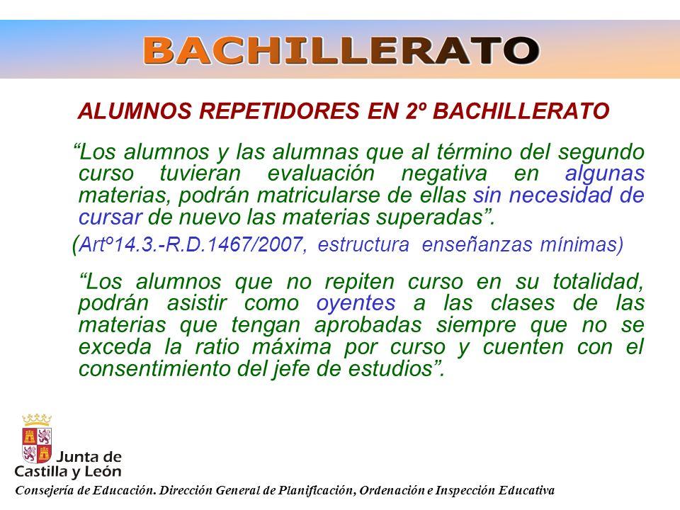 ALUMNOS REPETIDORES EN 2º BACHILLERATO