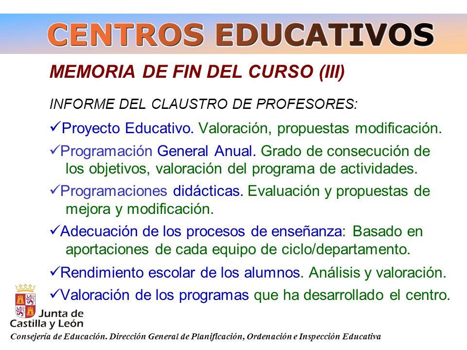 MEMORIA DE FIN DEL CURSO (III)