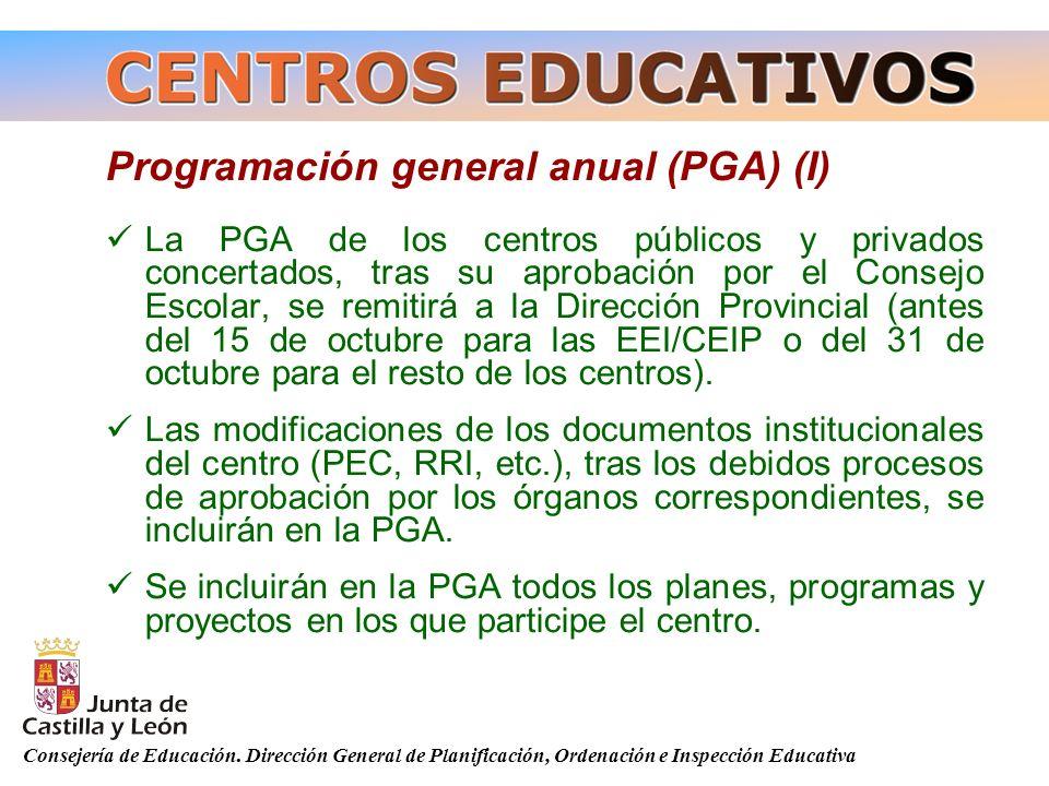 Programación general anual (PGA) (I)