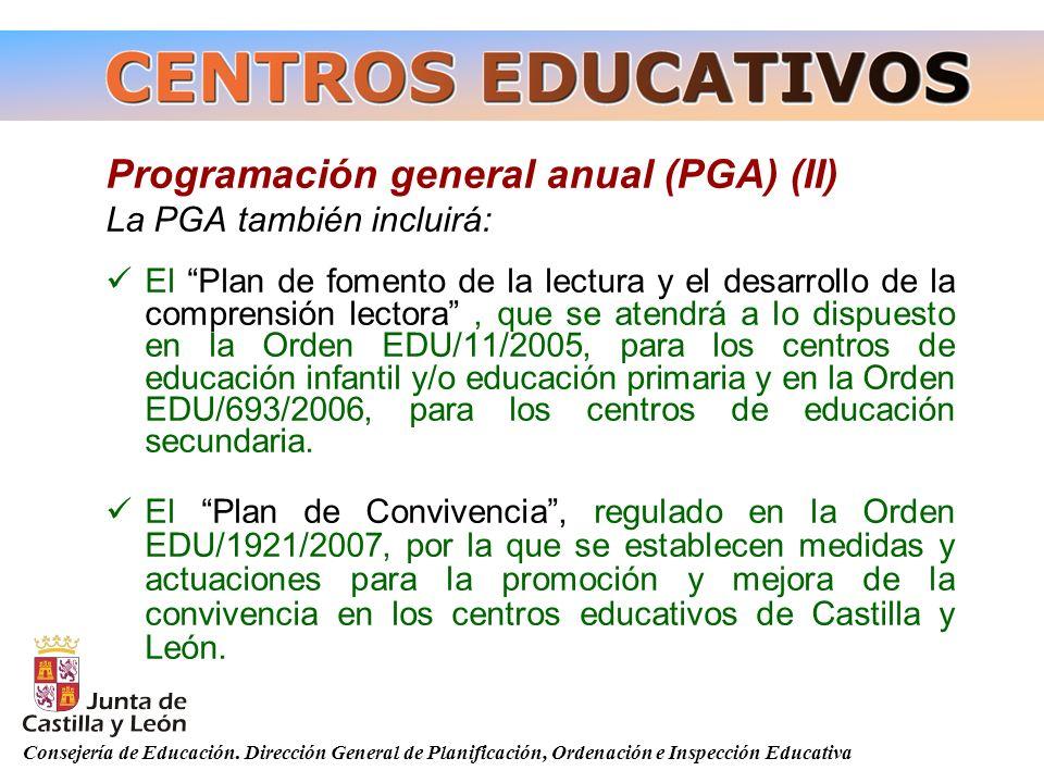 Programación general anual (PGA) (II)