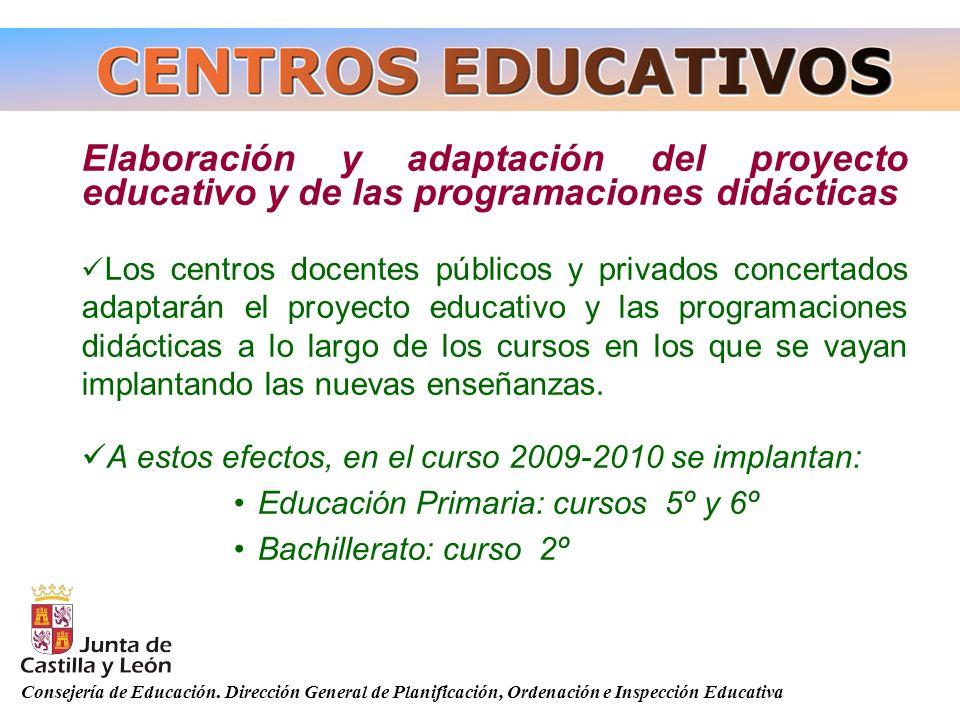 Elaboración y adaptación del proyecto educativo y de las programaciones didácticas
