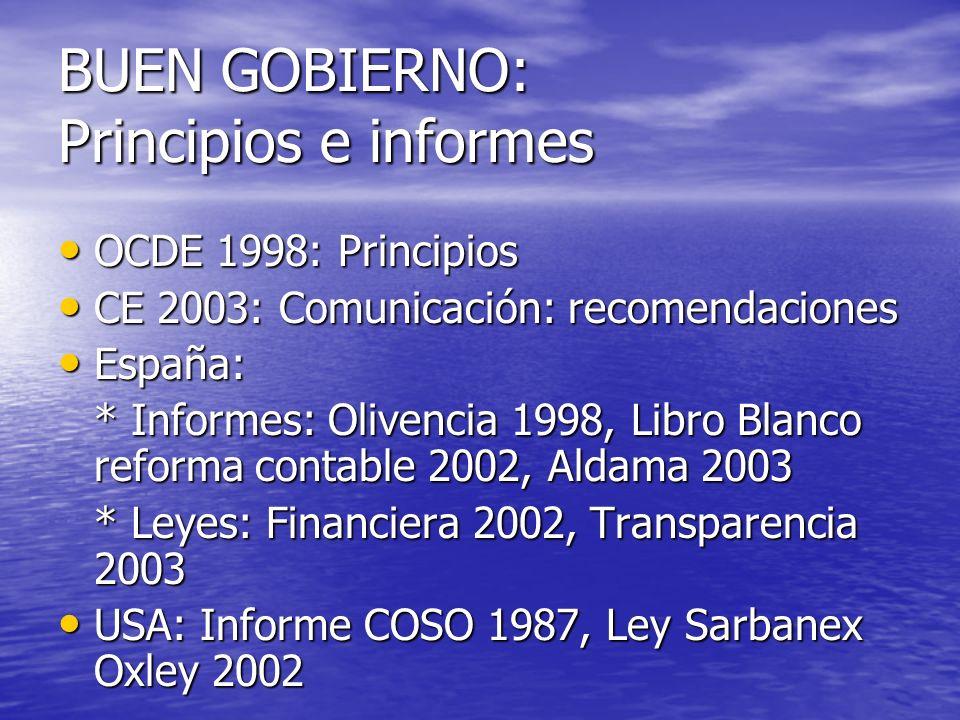 BUEN GOBIERNO: Principios e informes