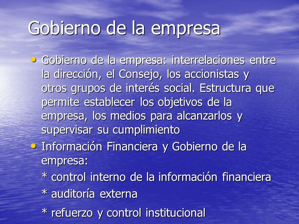 Gobierno de la empresa