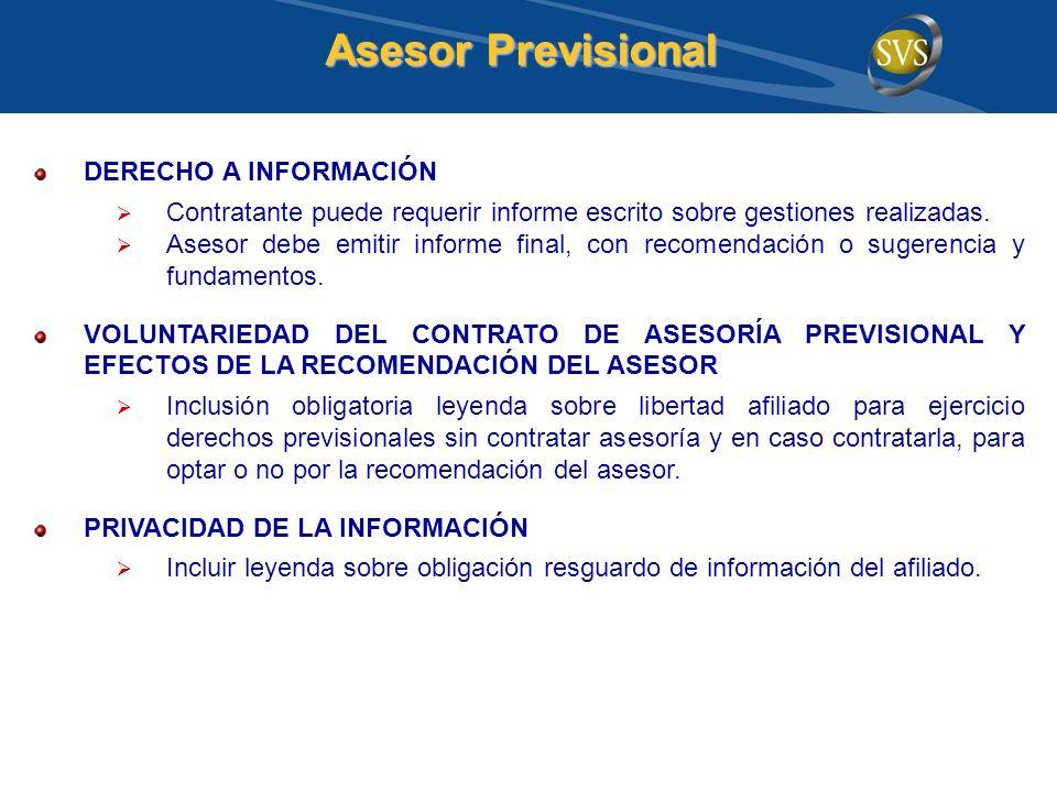 Asesor Previsional DERECHO A INFORMACIÓN