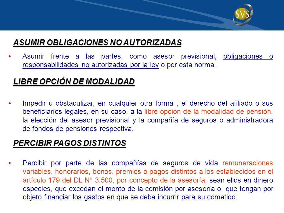 ASUMIR OBLIGACIONES NO AUTORIZADAS