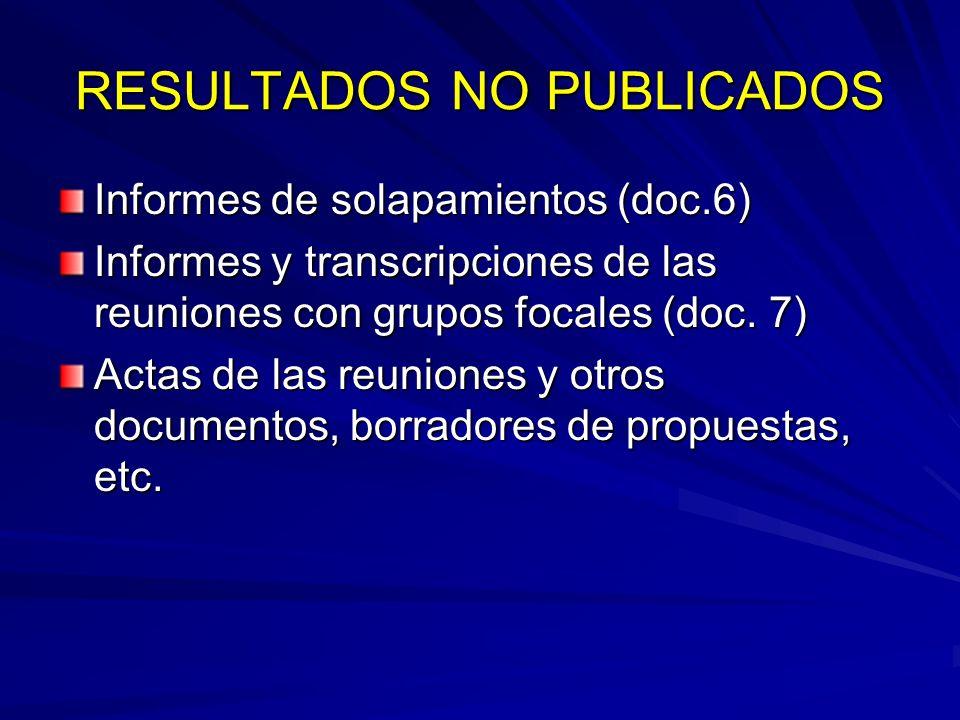 RESULTADOS NO PUBLICADOS