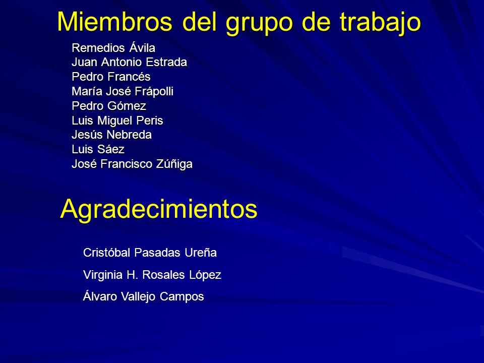 Miembros del grupo de trabajo