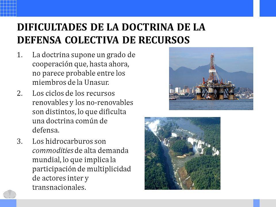 DIFICULTADES DE LA DOCTRINA DE LA DEFENSA COLECTIVA DE RECURSOS