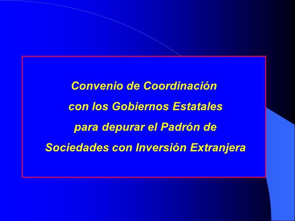 Convenio de Coordinación con los Gobiernos Estatales