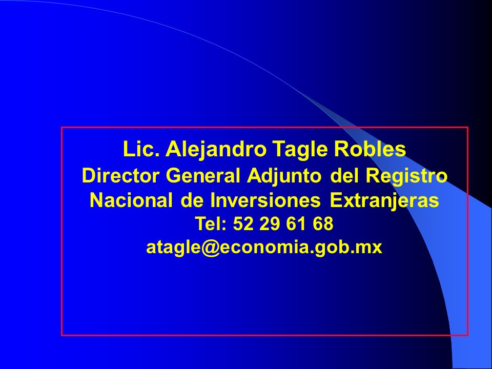 Lic. Alejandro Tagle Robles