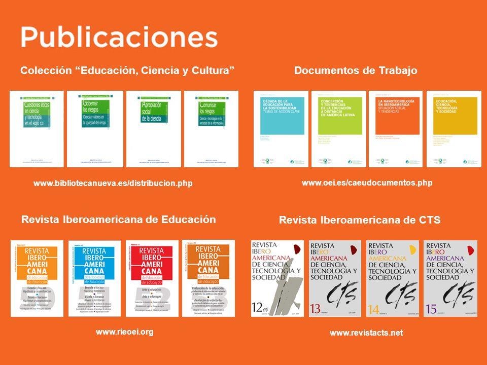 Colección Educación, Ciencia y Cultura Documentos de Trabajo