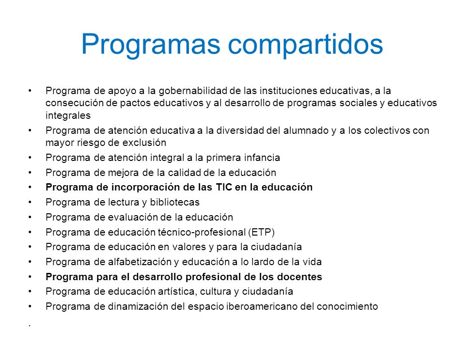 Programas compartidos