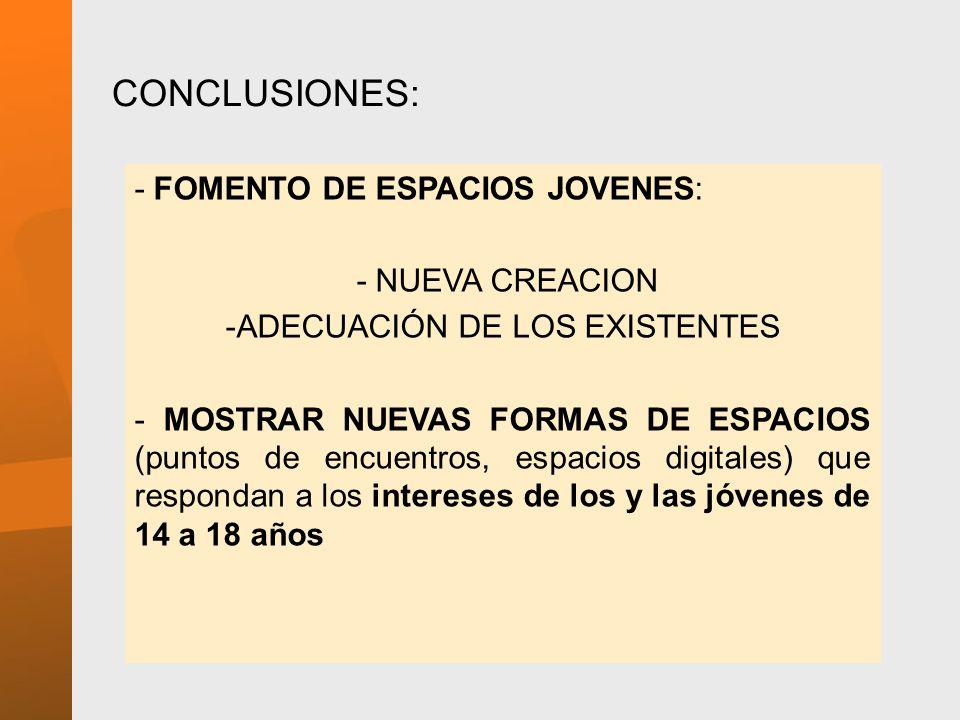 ADECUACIÓN DE LOS EXISTENTES