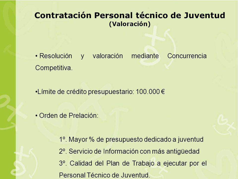 Contratación Personal técnico de Juventud (Valoración)