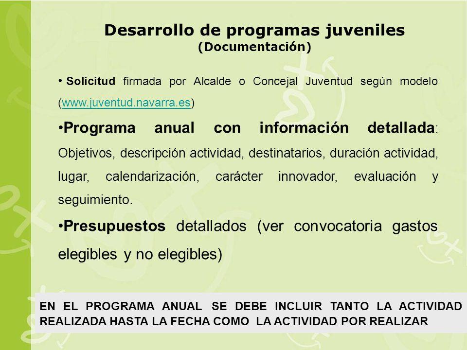 Desarrollo de programas juveniles (Documentación)