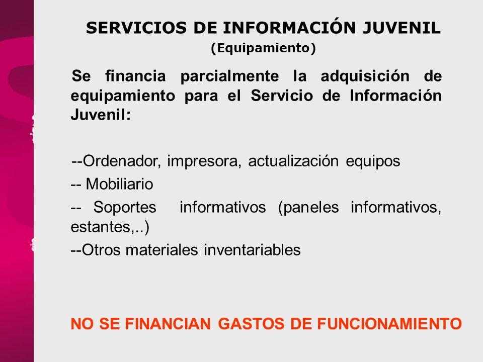 SERVICIOS DE INFORMACIÓN JUVENIL (Equipamiento)