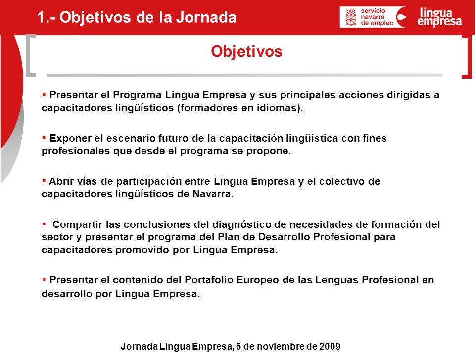 1.- Objetivos de la Jornada