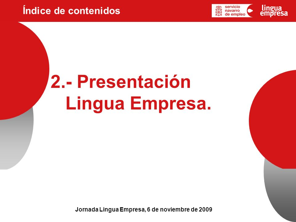 2.- Presentación Lingua Empresa.