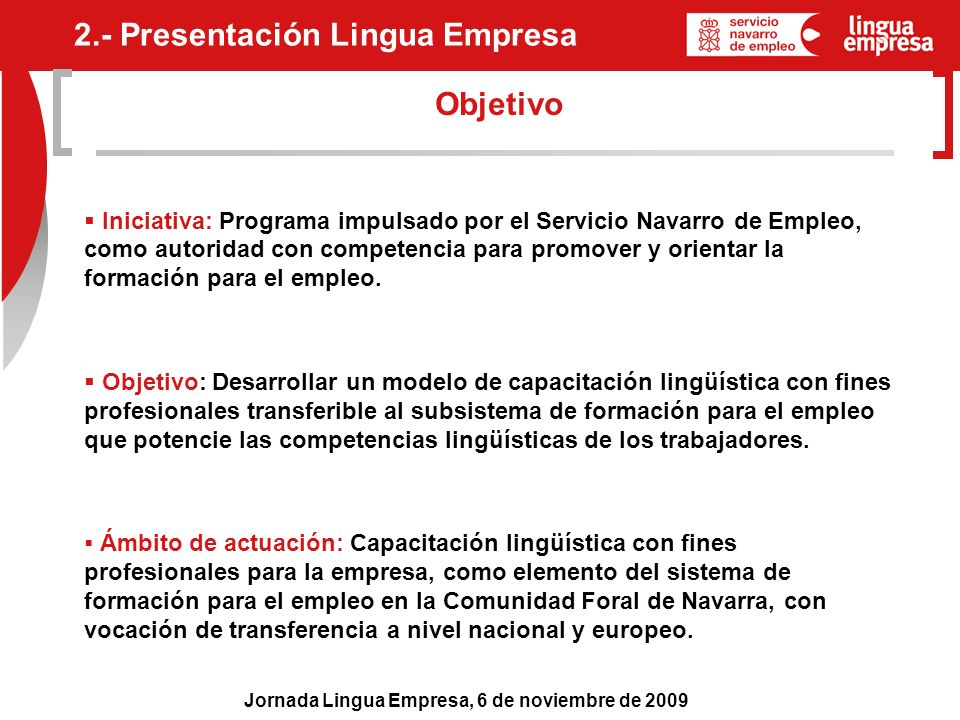 2.- Presentación Lingua Empresa