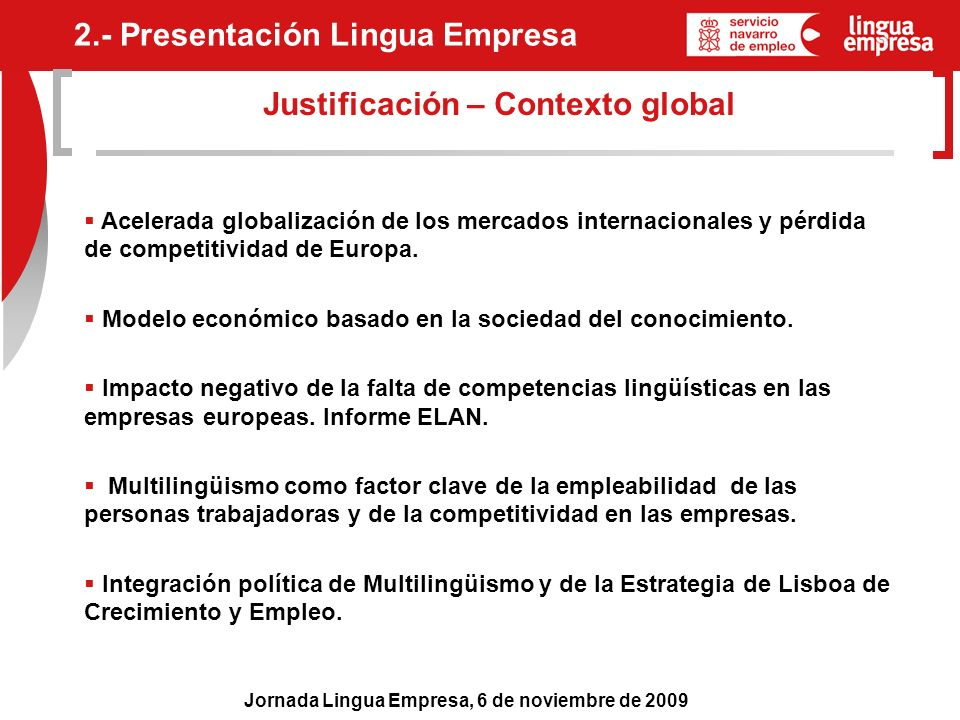 Justificación – Contexto global