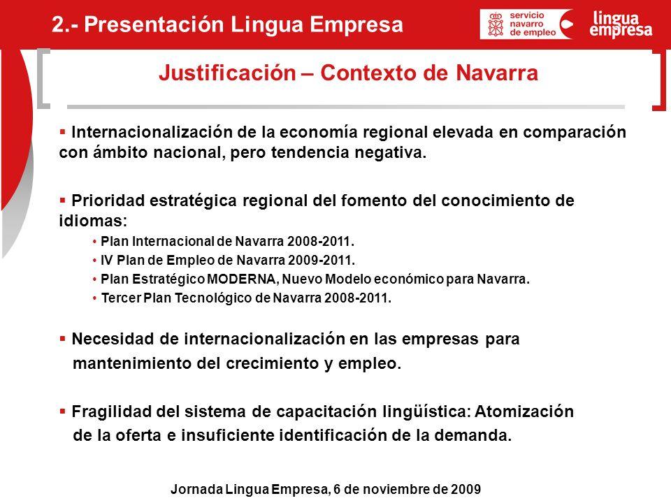 Justificación – Contexto de Navarra