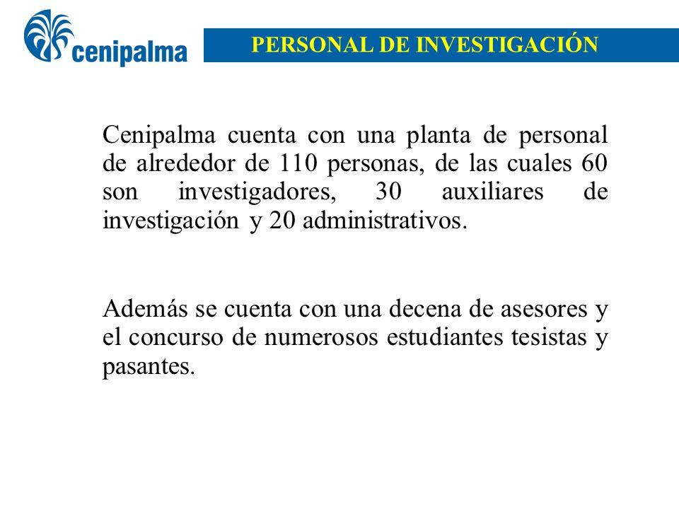 PERSONAL DE INVESTIGACIÓN
