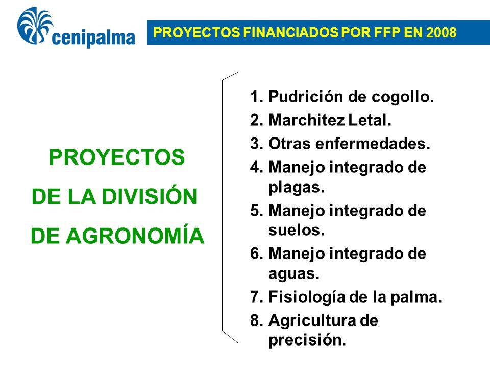 PROYECTOS FINANCIADOS POR FFP EN 2008