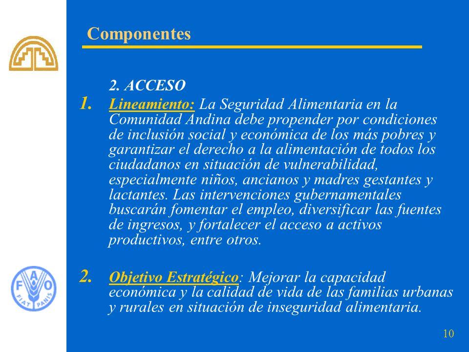 Componentes 2. ACCESO.