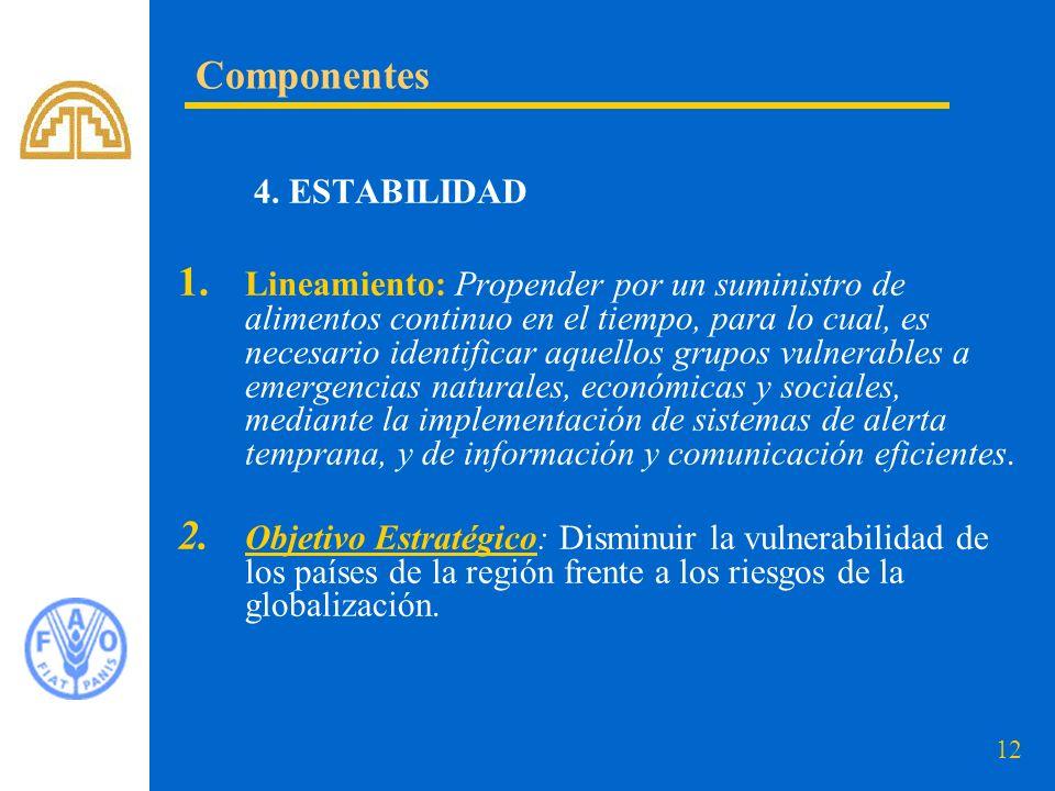Componentes 4. ESTABILIDAD