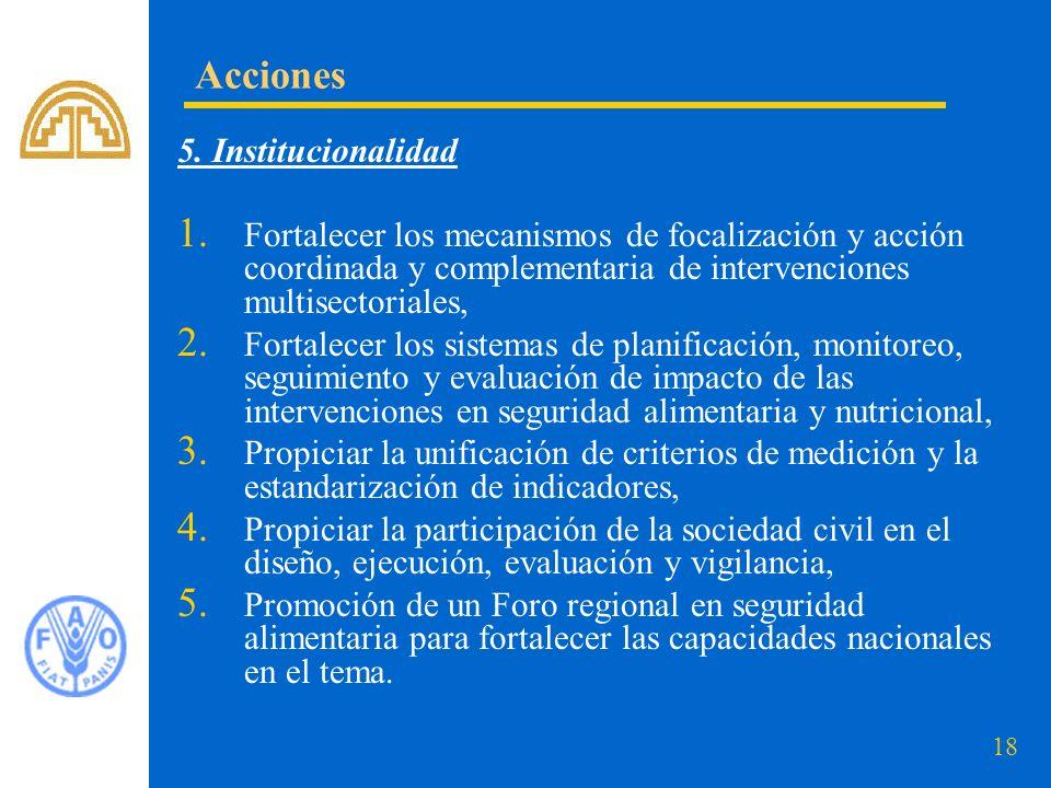 Acciones 5. Institucionalidad