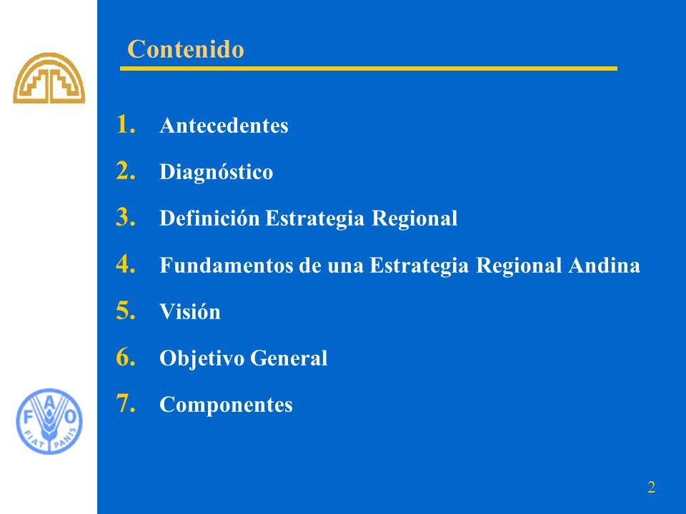Contenido Antecedentes Diagnóstico Definición Estrategia Regional
