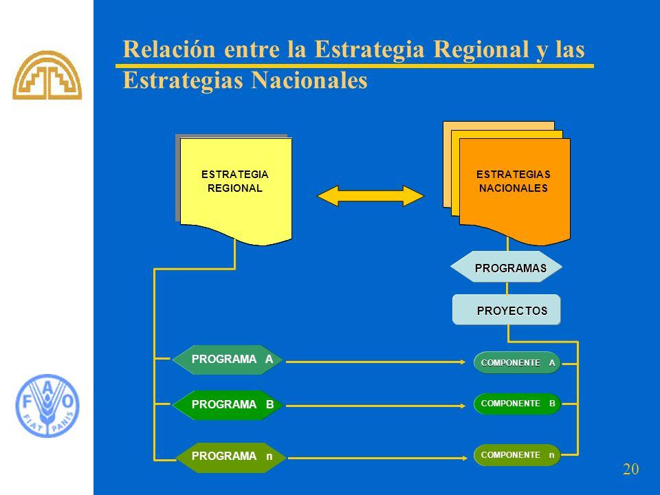 Relación entre la Estrategia Regional y las Estrategias Nacionales