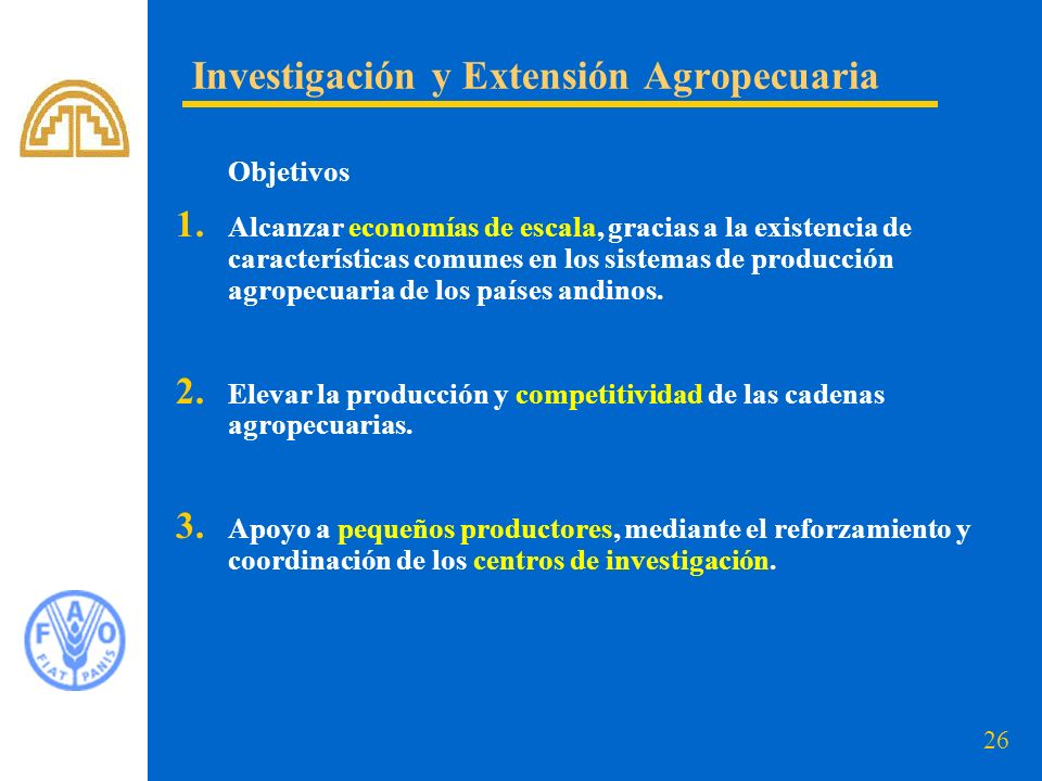 Investigación y Extensión Agropecuaria
