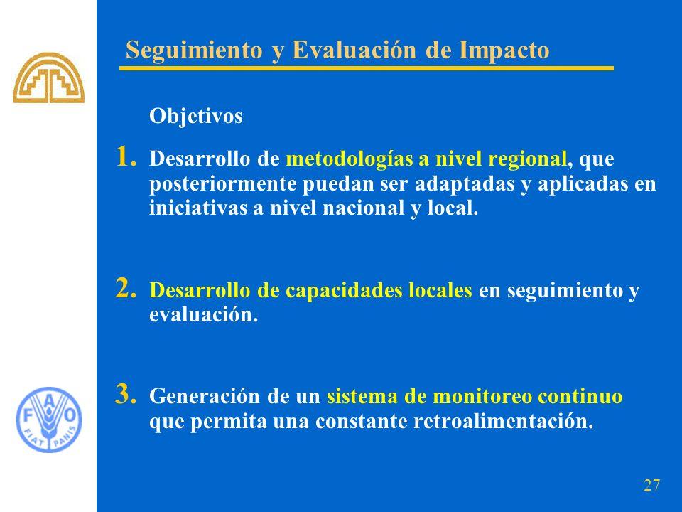 Seguimiento y Evaluación de Impacto
