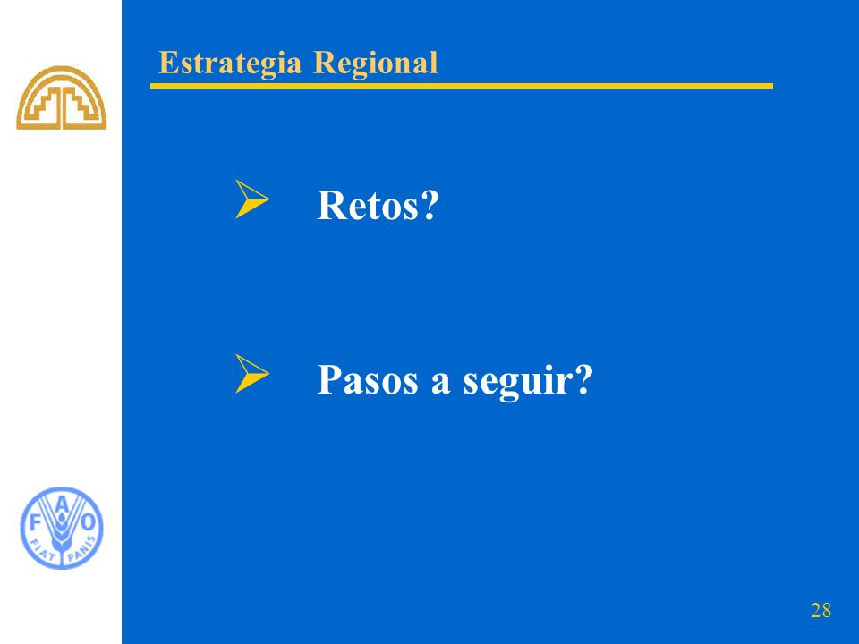 Estrategia Regional Retos Pasos a seguir